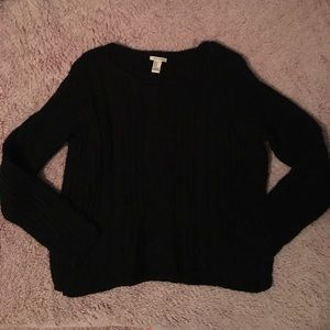 Forever 21 Black Cable-Knit Sweater